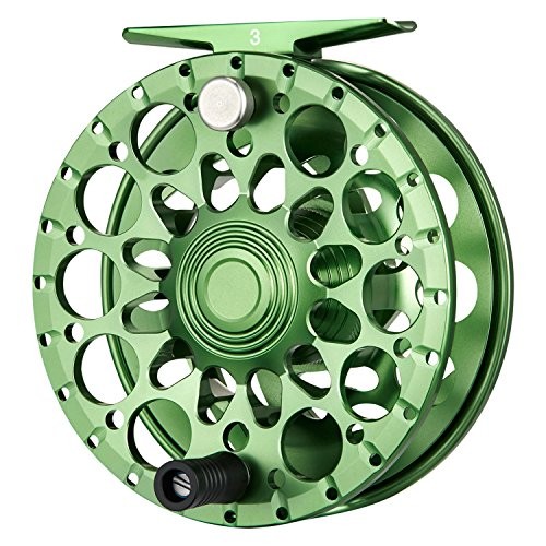Piscifun Crest Fully Sealed Drag Large Arbor Fly Fishing Reel Saltwater CNC-machined Aluminum Alloy Fly Reel 5/6 Green Review