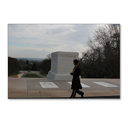 Cemetery Postcard - CafePress - Arlington National Cemetery Honor Guard Silhouette - Postcards (Package of 8), 6