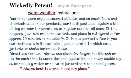 Image of Wickedly Potent! VEGAN TROPICAL Toothpaste for dogs & cats- All-natural oral care for pets Fights Plaque- Freshens Breath- Soothing Antibacterial Whitening Holistic & Herbal Remedy. EASY ACCESS JAR