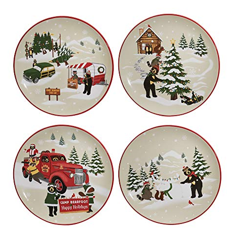 Hometown Holiday Assorted Salad Plate -set of 4 (Ideas Christmas Salads For)