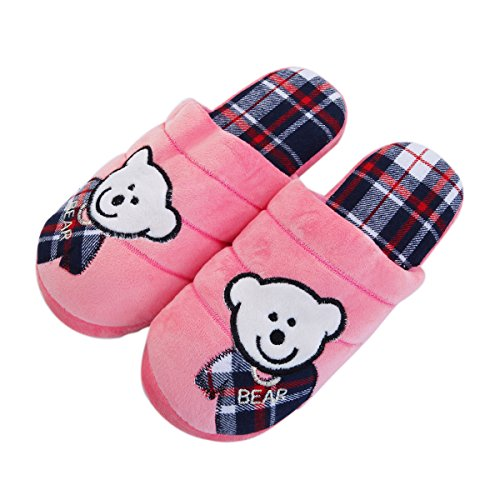 Baby Pink amp; Slippers Colors Cozy House Fleece Bear Different Fabric TrendsBlue Zq65x