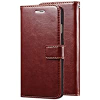 Mobiclonics® Leather Dairy Flip Cover for Samsung Galaxy M20 (Brown)