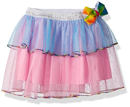 Danskin Girls Jacket (Jojo Siwa By Danskin Big Girls' Rainbow Bows Layered Skirt, Multi, MD)