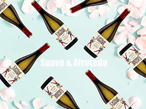 CAMINO DE CABRAS Estuche regalo - vino blanco - Albariño D.O. Rias Baixas - Producto Gourmet – caja de vino - Vino bueno para regalo - Vino Premium - 1 botella x 75cl: Amazon.es: Alimentación y bebidas