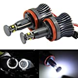 AutoEC 360-Degree Xenon White CREE 20W High Power H8 LED Angel Eyes for BMW E60 E61 E90 E92 E70 E71 E82 E89 1 3 5 Series X5 X6 Z4