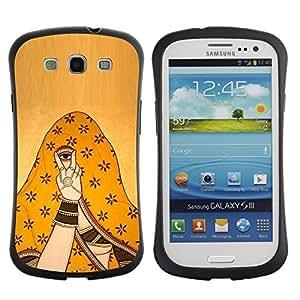 LASTONE PHONE CASE / Suave Silicona Caso Carcasa de Caucho Funda para Samsung Galaxy S3 I9300 / don't look at me