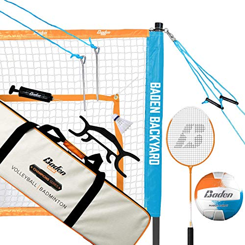 Family Renewed Franklin Sports Badminton Set /— Includes 4 Steel Raquets and Professional Set Options 2 Shuttlecocks 1 Net and 1 Carry Bag /— Starter