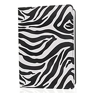 Zebra Print Pattern PU Leather Face and PC Back Cover 360¡ã Rotating Full Body Case for iPad Air