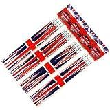Pencil Set - Union Jack Design, London Souvenir Collection- 4 Packs of 4 Rubber Tipped Pencils- LONPEN002