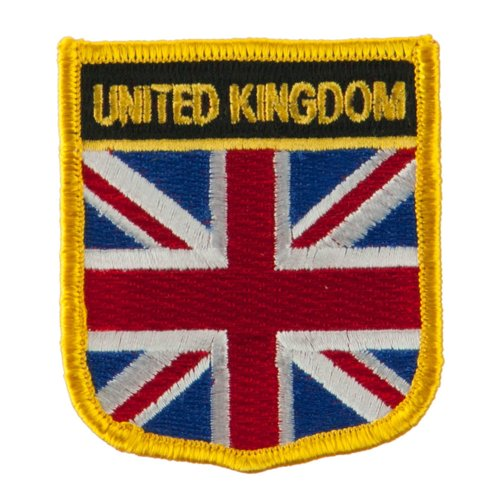 - Europe Flag Embroidered Patch Shield - United Kingdom OSFM