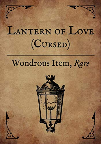 RPG Journal: Blank college ruled notebook for role playing gamers: Wondrous Item: Lantern of Love