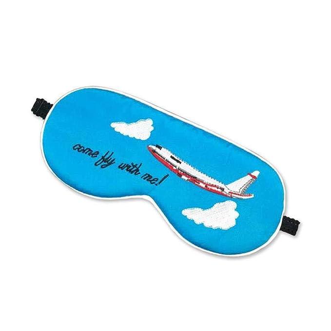 Wenzhihua Máscara de Seda del sueño de Seda del Ojo y máscara de Ojo, avión Azul del Viaje cómodo y Ajustable Quédate en mi Cara Toda la Noche (Color ...