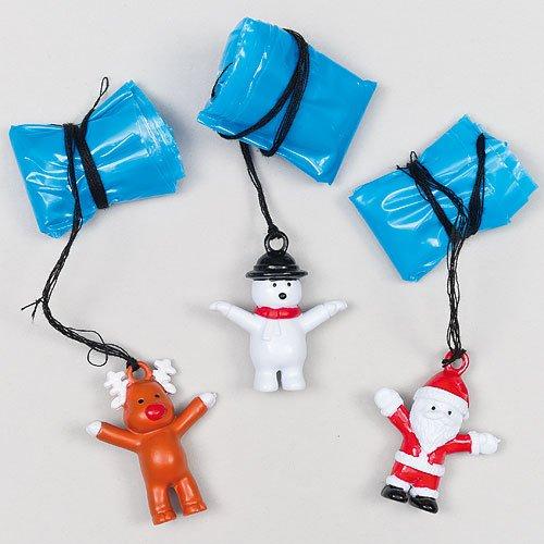 Baker Ross Parachutistes personnages de Noël, petits cadeaux parfaits pour enfants (Lot de 4)