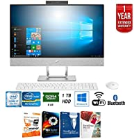 HP 24-x030 Pavilion 24 Intel i7-7700T All-in-One Touch Computer (2017 Model) + Elite Suite 17 Standard Software Bundle (Corel WordPerfect, PC Mover,PDF Fusion,X9) + 1 Year Extended Warranty