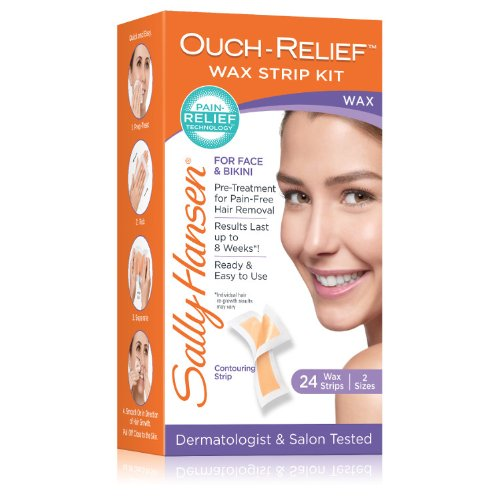 Sally Hansen Ouch-Relief Wax Strips for Face, 24 ()
