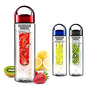 MonstGear 800ML Fruit Infuser Fuzer Infusing Water Bottle Health Juice Maker Black