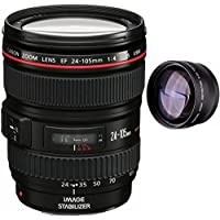 Canon 24-105mm L Lens (WHITE BOX) + High Definition Telephoto Auxiliary Lens
