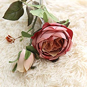 Sqkm-88 Artificial Fake Flower Royal Rose Flower Wedding Bouquet Home Garden Party Decoration 105