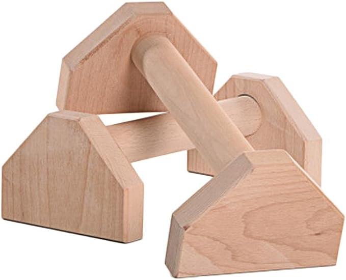 support de barres parall/èles simples en bois Support de push-up de support invers/é pour lexercice de remise en forme 1 paire de support de push-up /à quatre coins en bois de charbon de bois