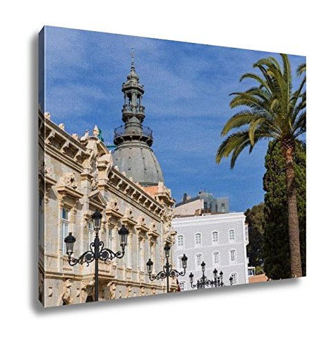 Ashley Canvas, Ayuntamiento De Cartagena City Hall At Murcia Spain, Wall Art Home Decor, Ready to Hang, 16x20, - Usa Center Cartagena