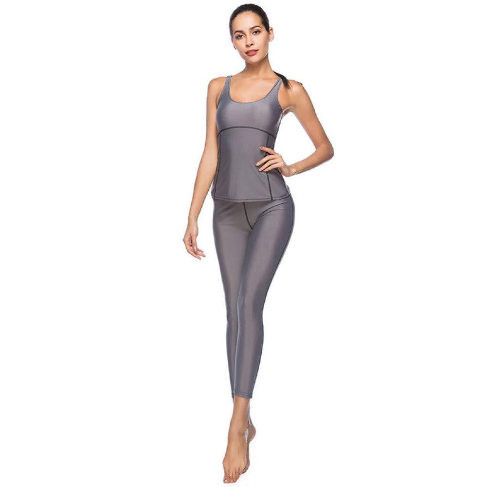 WYLYJTZ Frauen Yoga Sets Frauen Sport Sportbekleidung Outfits Laufbekleidung Neue Sexy Push Up Gym Wear Elastic Slim Pants Und Top