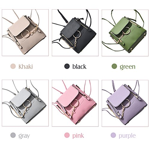 Bag Bag Ladies Satchel Women Pu Fashion Shoulder SCENTW Cute Backpack Crossbody Pink Small Leather Purse Fashion Chain BwwOvqzx6