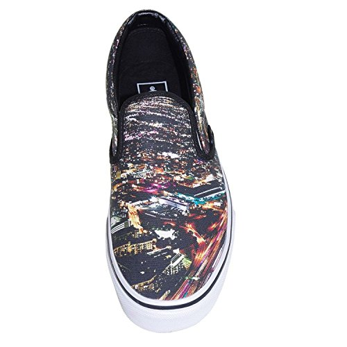 Vans Unisex Classic Slip-On City Sneakers-Black/True White-5