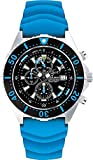 Chris Benz Depthmeter Chronograph 300m CB-C300-B-KBB Mens Chronograph Depth Gauge