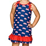 Mississippi OleMiss Rebels Big Girls Tie Top Gown, Size 8