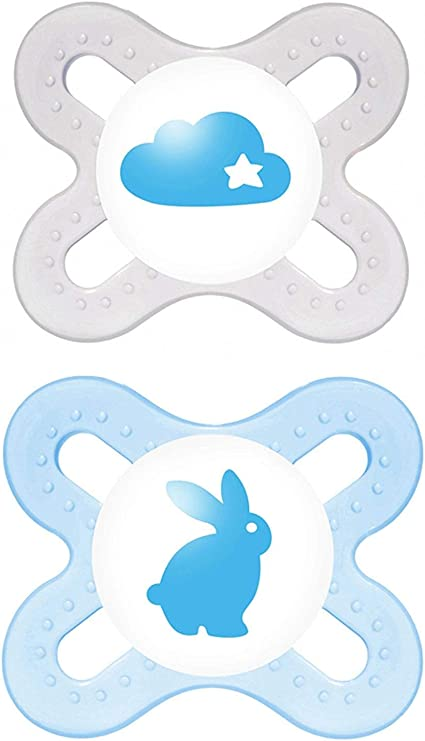 Mam Start Silicone Soothers Dummies Pack Of 2 For Ages 0-2 M Premature Newborn