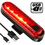 Yuwumin Rear Bike Tail Light 2 Pack,Ultra Bright USB Rechargeable Volcano Bicycle Taillights,Red High Intensity Led Accessories Fits On Any Road Bikes,Helmets.