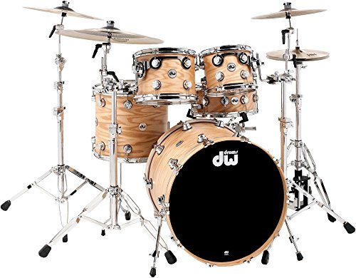 DW Collector's Series Lacquer Custom Oak 4-Piece Shell Pack Natural Hard (Oak Custom Series)