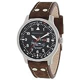 Messerschmitt Fliegeruhr Watch with Aviator Leather Strap ME-209
