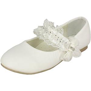 54791f7244cf9 Boutique-Magique Chaussures de cérémonie Enfant Blanche Mariage baptême  Communion