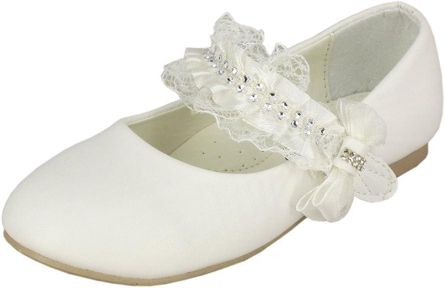Baptême Boutique Cérémonie Chaussures De Enfant Blanche Mariage Magique Communion 4ARj5L