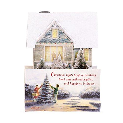 Hallmark Christmas Greeting Card with Light and Song Card (Displayable Dimensional Thomas Kinkade House) Photo #5