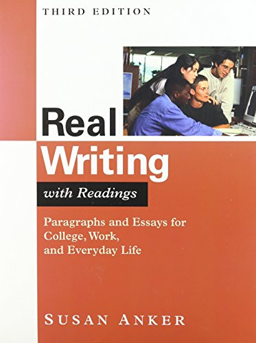 Real Writing with Readings 3e & Writing Guide Software
