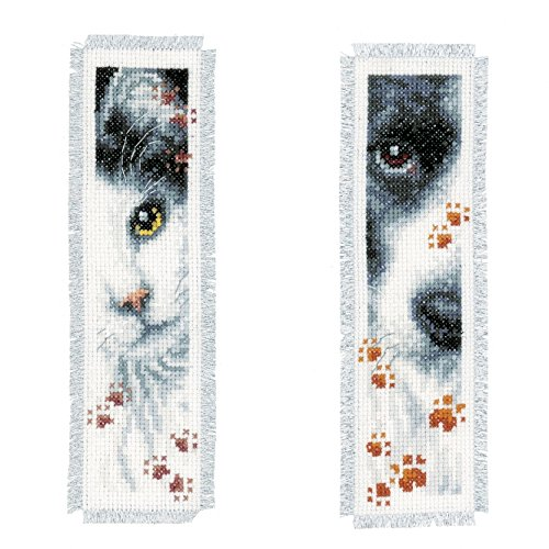 Vervaco Dog and Cat Bookmarks Counted Cross-Stitch Kit