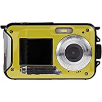 Chinatera Double Screens HD 24MP Waterproof LCD Digital Video Camera 1080P DV 16x Digital Zoom Yellow