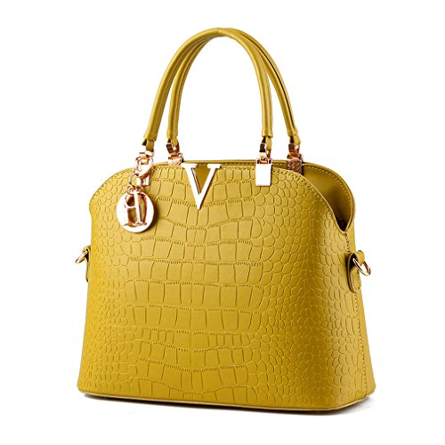 Pahajim Women handbags Luxury leather handbags crocodile pattern Shoulder bag Green
