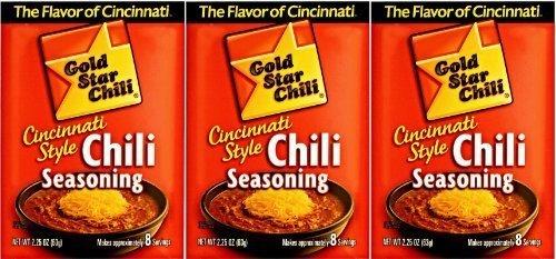 Gold Star Cincinnati Style Original Chili Seasoning. (3 Pack) by Gold Star Chili