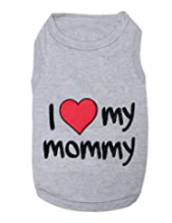 Parisian Pet I Love Mommy Dog T-Shirt, Medium