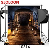 SJOLOON 10x10ft Halloween theme Skull Chalet Pictorial cloth Customized photography Backdrop Background studio prop JLT10314