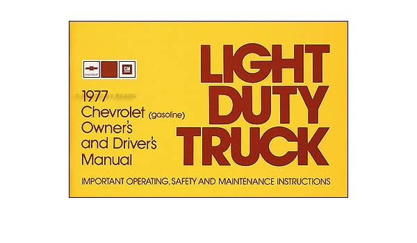 77 1977 Chevrolet Light Duty Truck owners manual Vehicle Parts ...