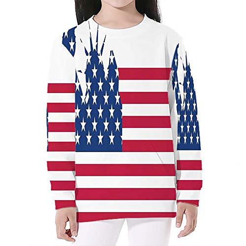 NYC Decor,Crewneck Sweatshirts Long Sleeve Sweatshirt Pullover Top,S