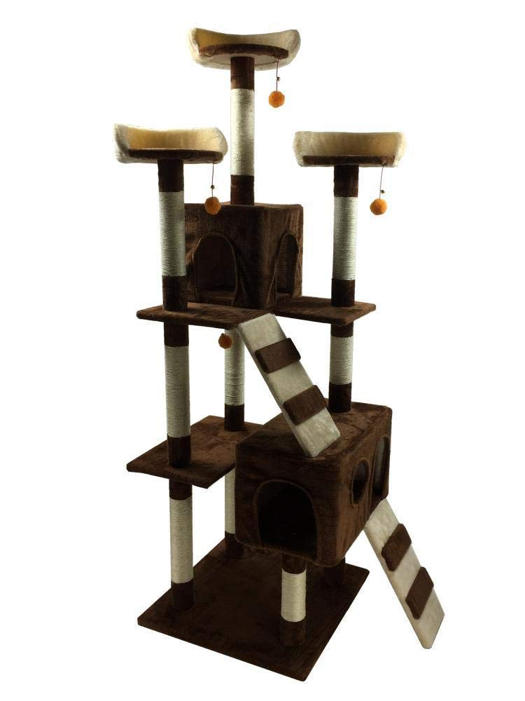 Hexiansheng Cat Climb Trees Pet cat Toy Furniture grab board cat Nest bed House Ladder 50  50  170cm
