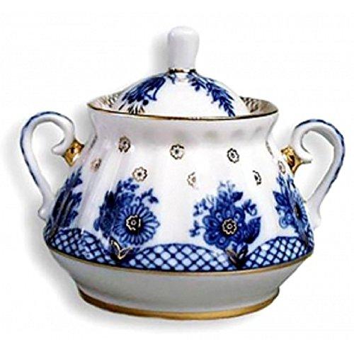 (Ornamental, Household, Decor, Ceramic,Lomonsov Porcelain 'Basket' Sugar Bowl)