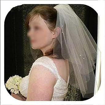 Fashion White Wedding Veil Appliques Tulle Ivory Bridal