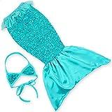 Kids 2 Pcs Mermaid Tail Mermaid Cosplay Mermaid Girl Skirtt With Scaly Print