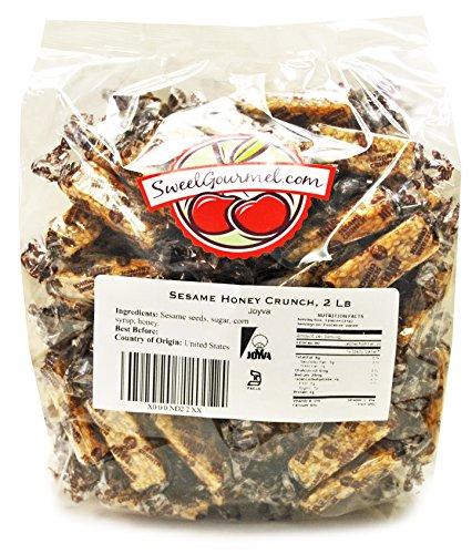 Sweetgourmet Joyva Sesame Honey Crunch Candy, 2 Lb (Sesame Seed Candy)